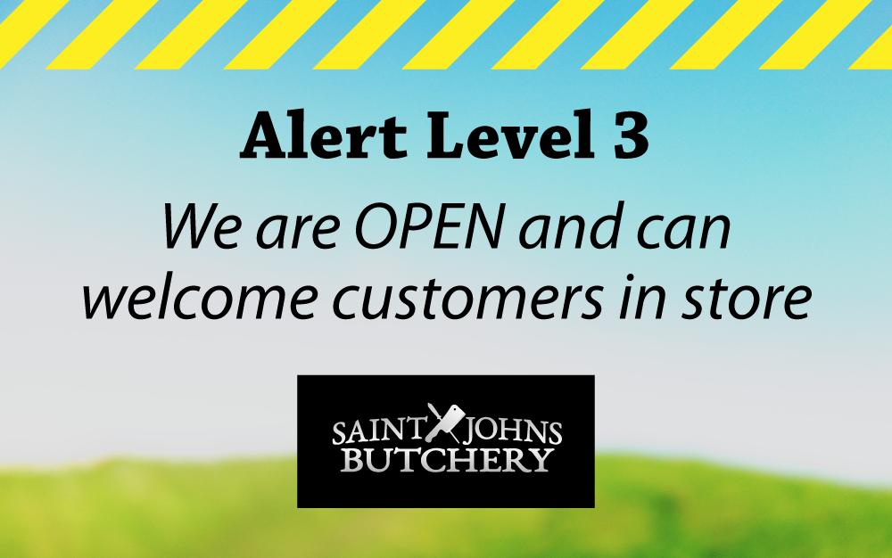 COVID-19 Alert Level 3 ... We are OPEN!